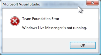 TFS_MSN_NOT_RUNNING